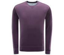 R-Neck Sweatshirt violett