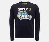 HerrenRundhals-Pullover 'Super G' navy