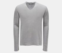 HerrenV-Ausschnitt-Pullover 'dru10de.101' grau