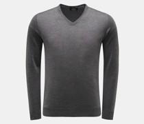 HerrenCashmere Feinstrick-Pullover dunkelgrau
