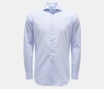 HerrenCasual Hemd Haifisch-Kragen blau/weiß