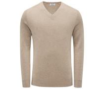 Cashmere V-Neck Pullover hellbraun