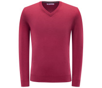Cashmere V-Neck Pullover rot