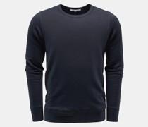 Leinen Rundhals-Sweatshirt 'Edwin' navy
