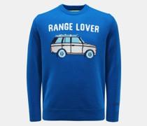 HerrenRundhals-Pullover 'Car Lover' blau