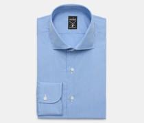 Business Hemd 'Mivara Tailor Fit' Haifisch-Kragen rauchblau/weiß