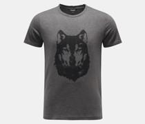 HerrenRundhals-T-Shirt 'Wolf' dunkelgrau