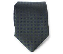 Krawatte dunkelgrün gemustert