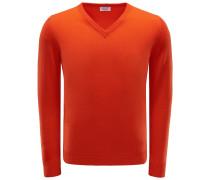 Cashmere V-Neck Pullover hellrot