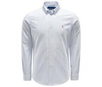 Oxfordhemd Button-Down-Kragen hellblau/weiß
