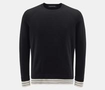 HerrenRundhals-Pullover schwarz