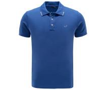 Jersey-Poloshirt blau