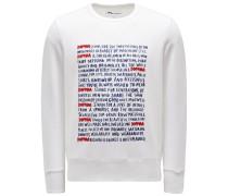 Sweatshirt mit Rundhals 'Aacaste' weiß