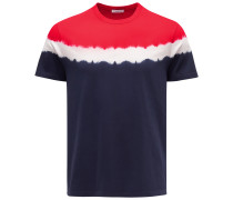 R-Neck T-Shirt navy/rot
