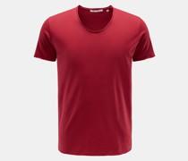 V-Neck T-Shirt 'Aurel' bordeaux