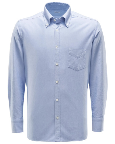 Oxfordhemd Button-Down-Kragen hellblau