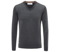 V-Neck Pullover anthrazit