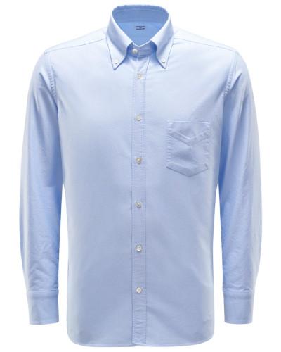 Oxfordhemd Button-Down-Kragen pastellblau
