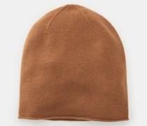 HerrenCashmere Mütze hellbraun