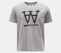 Rundhals-T-Shirt 'Ace' grau