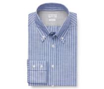 Casual Hemd Button-Down-Kragen blau gestreift