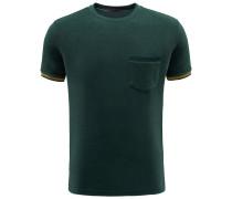 Frottee R-Neck T-Shirt 'Rodi' dunkelgrün