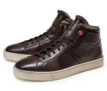 High Top Sneaker dunkelbraun