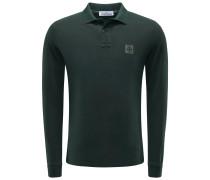 Longsleeve-Poloshirt dunkelgrün