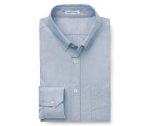 Oxford-Hemd Button-Down-Kragen blau