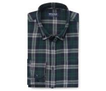 Woolrich - Casual Hemd Button-Down-Kragen navy/dunkelgrün kariert