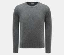 Cashmere Rundhals-Pullover grau