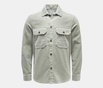 HerrenCord-Overshirt mintgrün