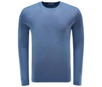 R-Neck Pullover rauchblau
