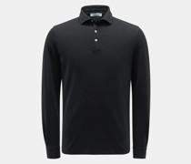 HerrenLongsleeve-Poloshirt schwarz