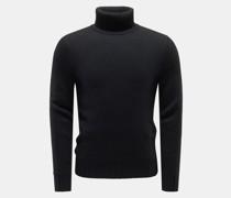 Cashmere Rollkragenpullover schwarz