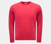 HerrenCashmere Rundhals-Pullover magenta