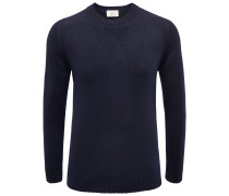 Bruno Manetti - Cashmere R-Neck Pullover dark navy