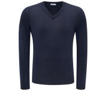 Cashmere V-Neck Pullover dark navy