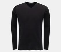 HerrenV-Ausschnitt-Pullover 'a10ve.127' schwarz