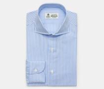 Oxfordhemd 'Nando' Haifisch-Kragen hellblau/weiß