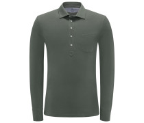 Longsleeve-Poloshirt oliv