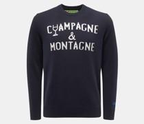 HerrenRundhals-Pullover 'Champagne & Montagne' navy