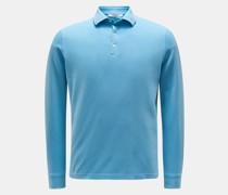 HerrenLongsleeve-Poloshirt hellblau