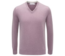 Brunello Cucinelli - Cashmere V-Neck Pullover violett