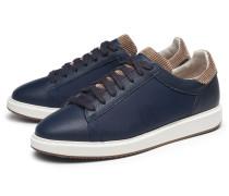Brunello Cucinelli - Sneaker navy/hellbraun
