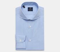 HerrenBusiness Hemd 'Sandro' Haifisch-Kragen hellblau/weiß