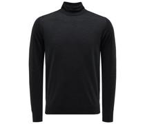 Feinstrick-Pullover anthrazit