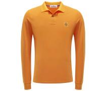 Longsleeve-Poloshirt orange
