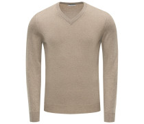 Cashmere V-Neck Pullover khaki