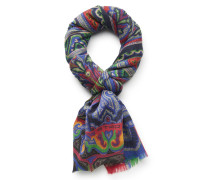 Schal blau gemustert